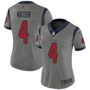 Women Texans Deshaun Watson Gray Jersey
